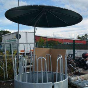 Râtelier à foin rond de 1m70 avec toit pivotant