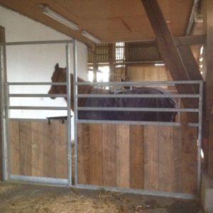 TKH 300 Barrière bois / Métal avec porte